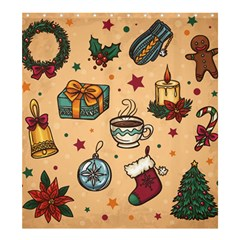Cute Vintage Christmas Pattern Shower Curtain 66  X 72  (large)