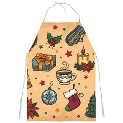 Cute Vintage Christmas Pattern Full Print Aprons