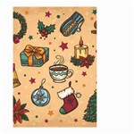 Cute Vintage Christmas Pattern Small Garden Flag (Two Sides) Front