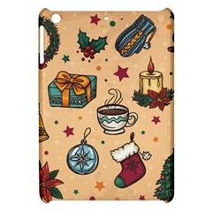Cute Vintage Christmas Pattern Apple Ipad Mini Hardshell Case