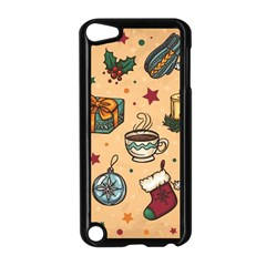 Cute Vintage Christmas Pattern Apple Ipod Touch 5 Case (black)