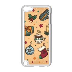 Cute Vintage Christmas Pattern Apple Ipod Touch 5 Case (white)