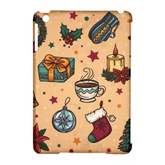 Cute Vintage Christmas Pattern Apple Ipad Mini Hardshell Case (compatible With Smart Cover)