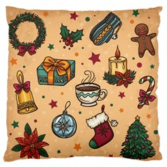 Cute Vintage Christmas Pattern Standard Flano Cushion Case (one Side)