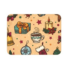 Cute Vintage Christmas Pattern Double Sided Flano Blanket (mini)