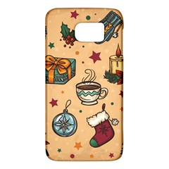 Cute Vintage Christmas Pattern Galaxy S6