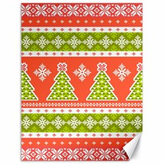 Christmas Tree Ugly Sweater Pattern Canvas 18  X 24