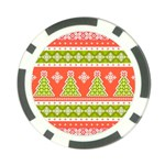 Christmas Tree Ugly Sweater Pattern Poker Chip Card Guard Front