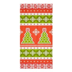 Christmas Tree Ugly Sweater Pattern Shower Curtain 36  X 72  (stall)