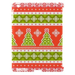 Christmas Tree Ugly Sweater Pattern Apple Ipad 3/4 Hardshell Case (compatible With Smart Cover)