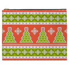 Christmas Tree Ugly Sweater Pattern Cosmetic Bag (xxxl)