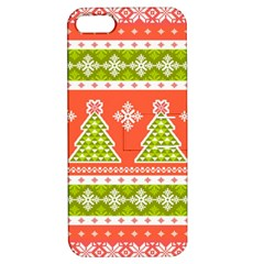 Christmas Tree Ugly Sweater Pattern Apple Iphone 5 Hardshell Case With Stand