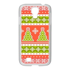 Christmas Tree Ugly Sweater Pattern Samsung Galaxy S4 I9500/ I9505 Case (white)