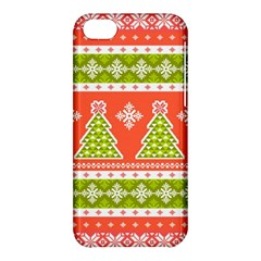 Christmas Tree Ugly Sweater Pattern Apple Iphone 5c Hardshell Case
