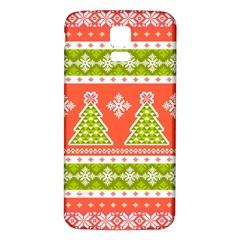 Christmas Tree Ugly Sweater Pattern Samsung Galaxy S5 Back Case (white)