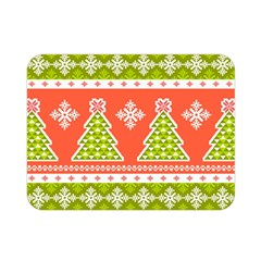 Christmas Tree Ugly Sweater Pattern Double Sided Flano Blanket (mini)