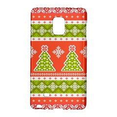 Christmas Tree Ugly Sweater Pattern Galaxy Note Edge