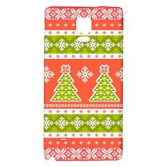 Christmas Tree Ugly Sweater Pattern Galaxy Note 4 Back Case