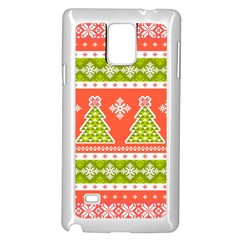Christmas Tree Ugly Sweater Pattern Samsung Galaxy Note 4 Case (white)
