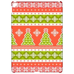 Christmas Tree Ugly Sweater Pattern Apple Ipad Pro 12 9   Hardshell Case