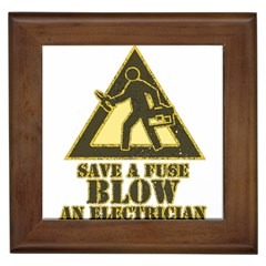Save A Fuse Blow An Electrician Framed Tiles