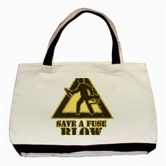 Save A Fuse Blow An Electrician Basic Tote Bag