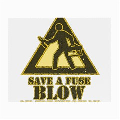 Save A Fuse Blow An Electrician Small Glasses Cloth (2 Side)