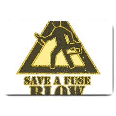 Save A Fuse Blow An Electrician Large Doormat