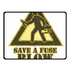 Save A Fuse Blow An Electrician Fleece Blanket (small)