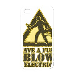 Save A Fuse Blow An Electrician Apple Iphone 4 Case (white)