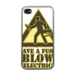 Save A Fuse Blow An Electrician Apple Iphone 4 Case (clear)