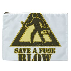 Save A Fuse Blow An Electrician Cosmetic Bag (xxl)