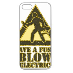 Save A Fuse Blow An Electrician Apple Seamless Iphone 5 Case (clear)