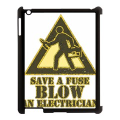 Save A Fuse Blow An Electrician Apple Ipad 3/4 Case (black)