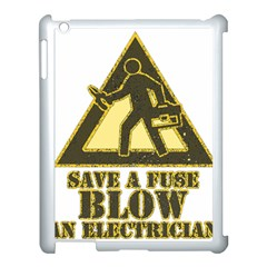 Save A Fuse Blow An Electrician Apple Ipad 3/4 Case (white)
