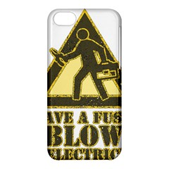 Save A Fuse Blow An Electrician Apple Iphone 5c Hardshell Case