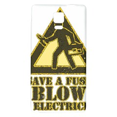 Save A Fuse Blow An Electrician Galaxy Note 4 Back Case