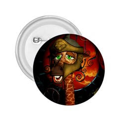 Funny Giraffe With Helmet 2 25  Buttons