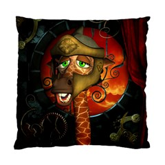 Funny Giraffe With Helmet Standard Cushion Case (one Side)