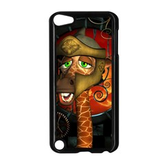 Funny Giraffe With Helmet Apple Ipod Touch 5 Case (black)