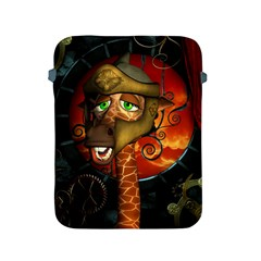 Funny Giraffe With Helmet Apple Ipad 2/3/4 Protective Soft Cases
