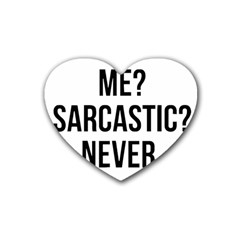 Me Sarcastic Never Heart Coaster (4 Pack)