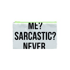Me Sarcastic Never Cosmetic Bag (xs)