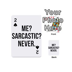 Me Sarcastic Never Playing Cards 54 (mini)
