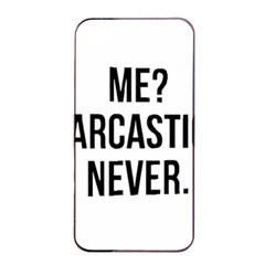 Me Sarcastic Never Apple Iphone 4/4s Seamless Case (black)