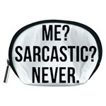 Me sarcastic never Accessory Pouches (Medium)  Front