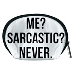 Me sarcastic never Accessory Pouches (Medium)  Back