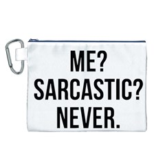 Me Sarcastic Never Canvas Cosmetic Bag (l)