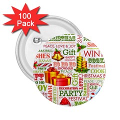 The Joys Of Christmas 2 25  Buttons (100 Pack)