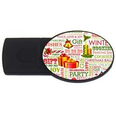 The Joys Of Christmas Usb Flash Drive Oval (2 Gb)